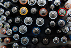 Used batteries for recycling Royalty Free Stock Photos