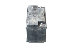 Used battery on isolated backgrond Stock Photography