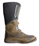 Used biker boot Stock Image
