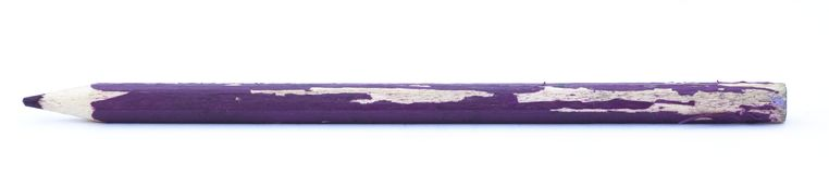 Isolated Ussed Purple Pencil Royalty Free Stock Images