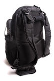 Used black backpack isolated with clipping path Stock Photography