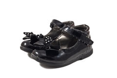 Used black child shoes Royalty Free Stock Photo