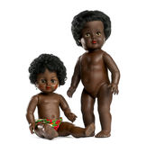 Used black doll Stock Photos