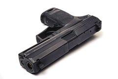 Free Used Black Metal 9mm Pistol Gun On White Background Royalty Free Stock Photo - 156087345