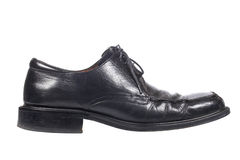 Used black shoe Royalty Free Stock Photos