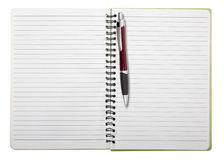Used blank note book with ring binder Stock Images