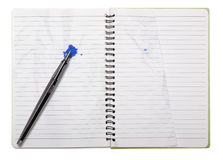 Used blank note book with ring binder Stock Photo