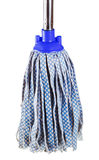 Used blue fabric mop Stock Photo