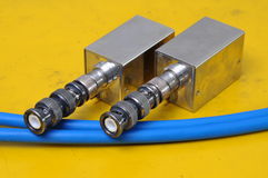 Used BNC connectors Royalty Free Stock Image