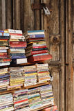 Used book shelf in Stone Town, Zanzibar, Tanzania Stock Photo