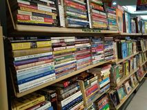 Used books on display. Plenty of books to choose from. All pre-loved or used royalty free stock images