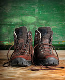 Used boots Stock Photography