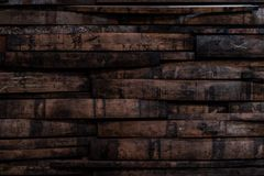 Free Used Bourbon Barrel Staves On Wall Stock Images - 118073544