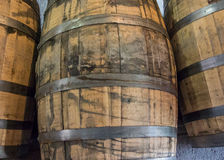 Used Bourbon Barrels Royalty Free Stock Photography