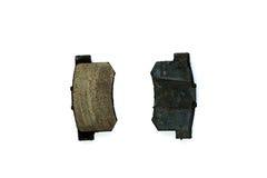 Used Brake Pads, closeup Stock Photo