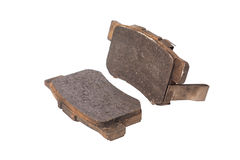 Used brake pads Stock Image