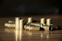 USED BRASS BULLET CASINGS Royalty Free Stock Image