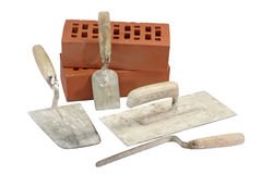 Used Brick Trowels Stock Images