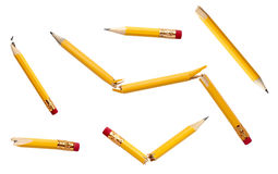 Used broken pencil education business Stock Photo
