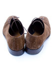 Used brown suede shoes Royalty Free Stock Photography
