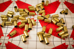 Used Bullet Casings Royalty Free Stock Photography