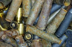 Used bullet casings. Stock Photography