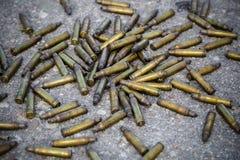 Used bullet shells Stock Photo