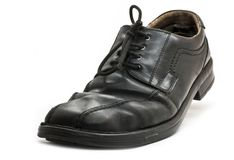 Used business shoe Stock Images