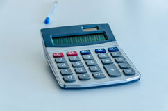 Used calculator Stock Photography