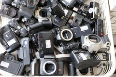 Used Camera Bodies Royalty Free Stock Photography