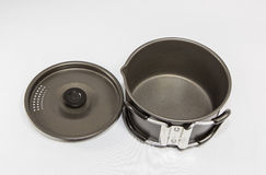 Used Camping Supplies - Cookware Stock Photography