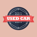 Used car badge design Royalty Free Stock Photo