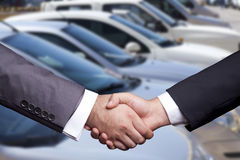 Used Car Dealership. Selective focus image royalty free stock photo