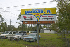Used car lot. In Bagdad Florida Royalty Free Stock Photography
