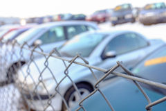 Used car lot abstract Royalty Free Stock Photos