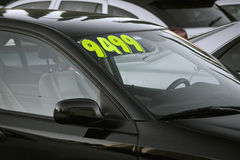 Used car for sale. Automobile for sale in a used car lot stock photography