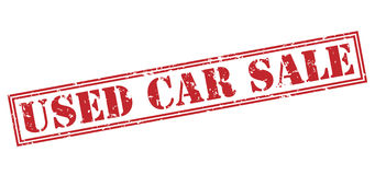 Used car sale stamp Royalty Free Stock Images