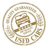 Used car stamp. Grunge Used car stamp illustration Stock Photos