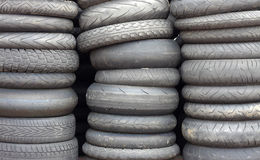 Used car tires Royalty Free Stock Photography