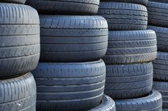 Used car tires background Royalty Free Stock Photo