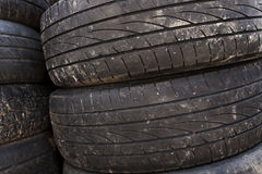 Used car tires. close-up Stock Photography