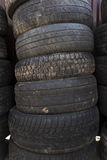 Used car tires. close-up Royalty Free Stock Images