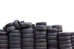 Used car tires isolated on white background Royalty Free Stock Photo