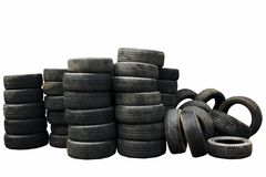 Used car tires isolated Stock Image