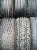 Used car tires Stock Images