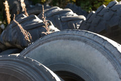 Used car tires Stock Photo