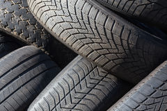 Used car tires Stock Image