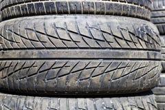 Used car tires Stock Photos