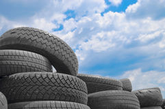 Used Car Tyres Royalty Free Stock Photography