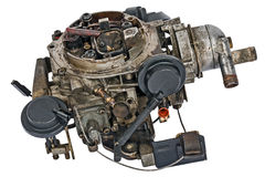 Used carburetor. From the fuel supply system of gasoline engine Royalty Free Stock Image